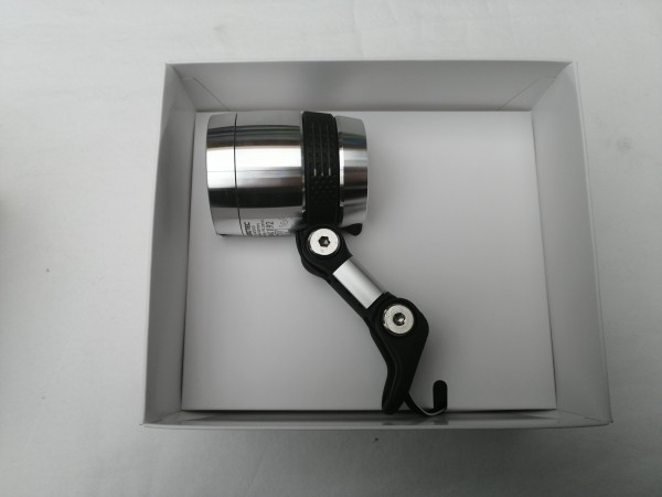 B&M Dynamo-Scheinwerfer IQ-X silber eloxiert 164RTSNDI