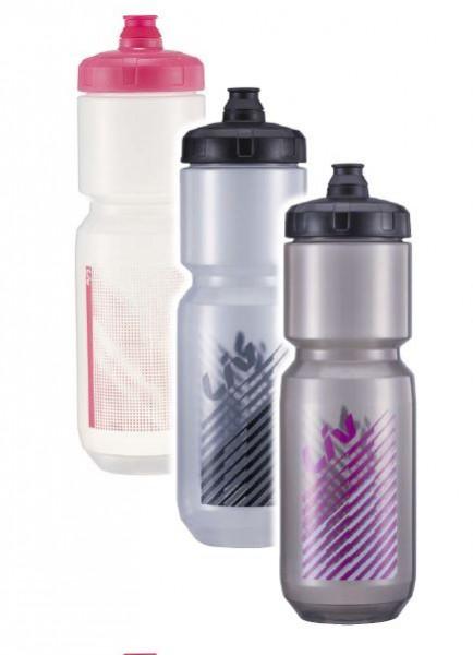 Liv Doublespring Trinkflasche 750 ml transparent/schwarz