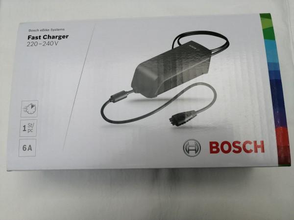 Bosch Fast Charger, 6 A Ladegerät mit EU Netzkabel, Schnellladegerät
