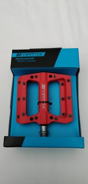 Matrix Plattformpedal Composite PE76 rot