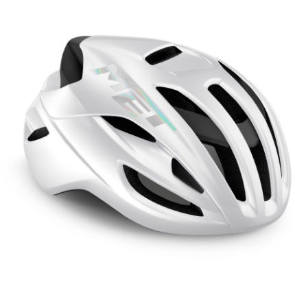 Met Rivale Fahrradhelm white glossy holographic L 58-61cm