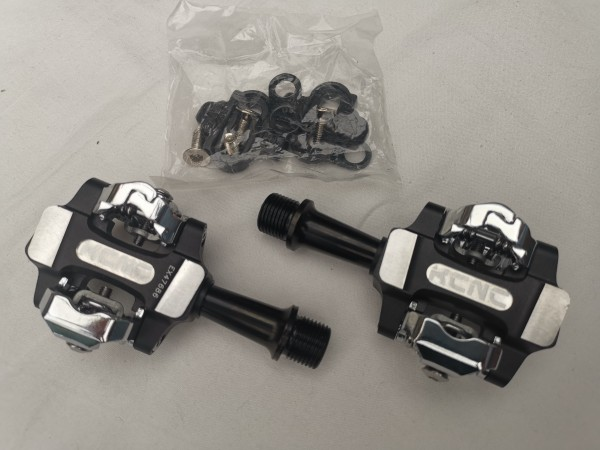 KCNC XC Trap-Ti Clipless Pedal, Double Sided, Titan spindle schwarz
