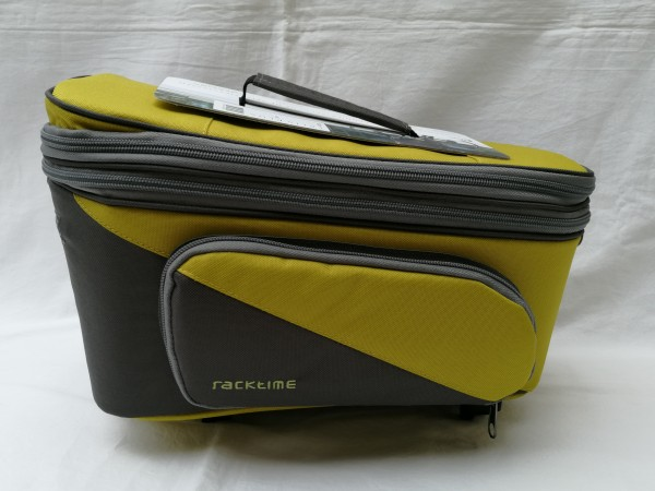 Racktime Gepäckträgertasche Talis Plus trunk bag lime green/ stone grau