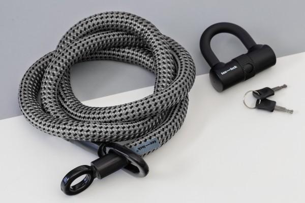 Tex-Lock eyelet L 160 cm, grau schwarz