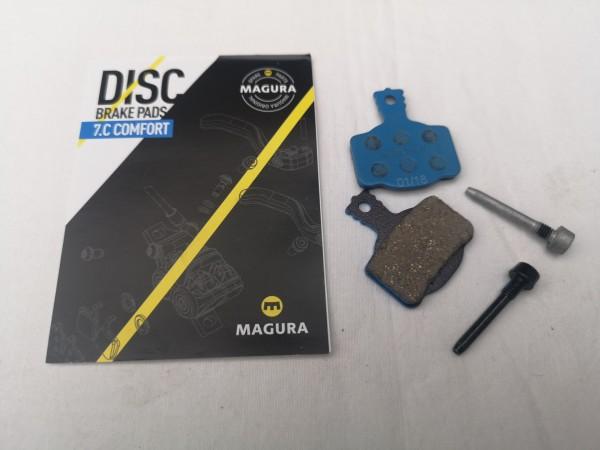 Magura Bremsbelag 7.C Comfort blau mit Belag-Halteschraube 1 Paar