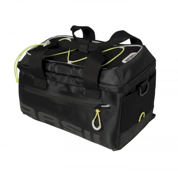 Basil Gepäckträgertasche Miles Trunkbag schwarz lime