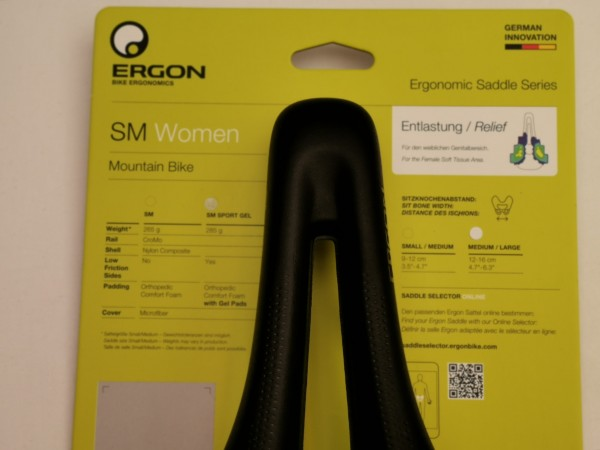 Ergon SM Sport Gel Women Damensattel S/M stealth