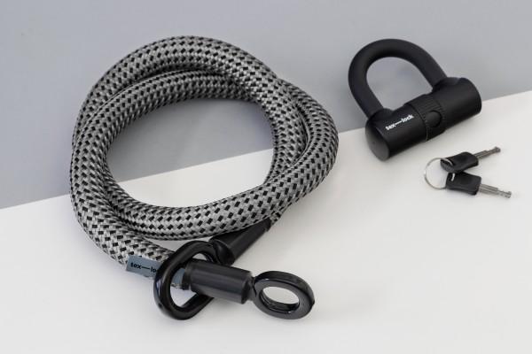 Tex-Lock eyelet M 120cm, grau schwarz
