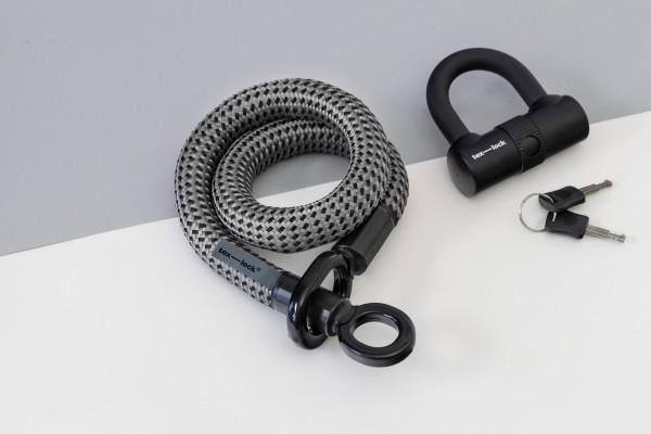 Tex-Lock eyelet S 80 cm, grau schwarz
