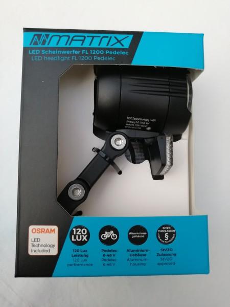 Matrix LED Scheinwerfer Shiny E-Bike120 LUX FL1200