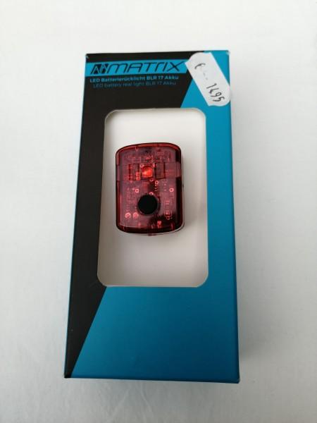 Matrix LED Akkurücklicht BLR 17 extra hell Fahrradbeleuchtung